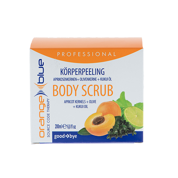 OrangeBlue natural body peeling with almond and kukui seed oil for silky, smooth skin, 200ml
