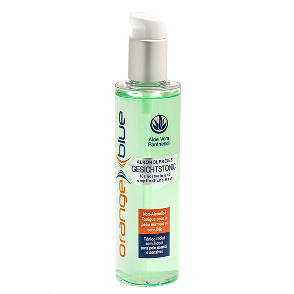 orangeblue facial tonic for normal and sensitive skin with aloe vera, alcohol-free