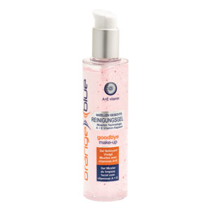 orangeblue micellar face cleansing gel, make-up remover, skin cleanser with vitamins A and E